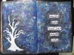 """Storms make trees"" Art Journal page"
